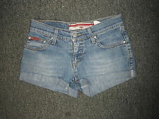 "Lee Cooper Baby Hotpants Jeans Waist 26"" Faded Medium Blue Ladies Hotpant Jeans"