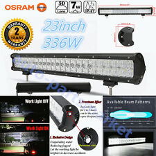 Xmas! 23inch 336W 5D Led Spot Flood Work Light Offroad 4WD Truck SUV Bar
