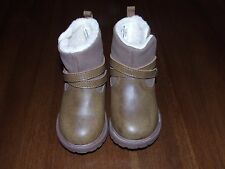 NWB Oshkosh Sz 5 Tess-G Brown Boots Ankle Fur Toddler Girl Warm Shoes Winter