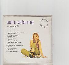 Saint Etienne- Too Young to Die UK promo cd album