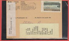 $1.00 Parks Bay of Fundy Change of Address Notice with list 1981 Canada
