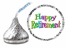 216 RETIREMENT PARTY FAVORS HERSHEY KISS KISSES LABELS design #2