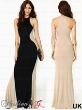 Womens Evening Dress Maxi Ball Prom Black Party Formal Long Celeb Size 8 10 12,