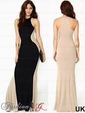 Womens Evening Dress Maxi Ball Prom Black Party Formal Long Celeb Size 8 10 12.