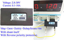 Lithium Li-ion Battery Tester Meter Voltage Current Capacity Resistance 18650