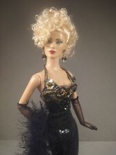 TONNER DRESSED DOLL - BREATHLESS REPAINT - BLACK SEQUIN GOWN