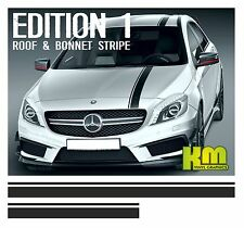 Mercedes Edition 1 Style Roof & Bonnet Stripe Decal Graphics - A Class A45 AMG