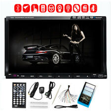 "GPS Nav 7"" Double 2 Din Car Stereo Radio DVD CD Player Bluetooth iPod USB"
