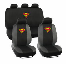 Superman Seat Covers for Car SUV - Full Set Front & Rear Auto Accessories