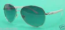 GUESS GUF 235 SILVER WHITE AVIATOR SHADES GUESS SUNGLASSES SUNNIES GUESS NEW