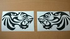TOP QUALITY 12in vinyl car stickers tribal tiger head flames graphics decals x2