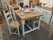 REFECTORY PAINTED RECLAIMED ROUGH SAWN TABLE 4' BESPOKE SIZES & COLOURS WHITE