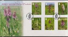 GB - JERSEY 2003 Nature Wild Orchids SG 1092/97 FDC FLOWERS
