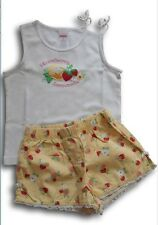 Lotto stock completo top shorts t-shirt fragole GYMBOREE bimba bambina 3 anni