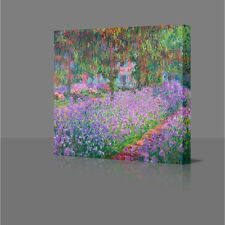 CLAUDE MONET Artists Garden 2 Giverny Large Framed Canvas Art Picture Print Art