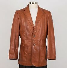 EUROPA Sport Men's Vintage Leather Jacket Size 44 Brown