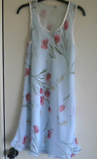 Vintage 1980s sheer chiffon floral sun dress - made in Great Britain