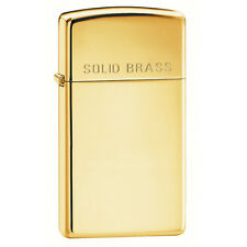 Zippo Slim High Polish Brass Lighter Model 1654B NEW