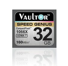 NEW VAULTOR EXTREME SPEED 32GB 1066X CF COMPACT FLASH MEMORY CARD - 160MB/S
