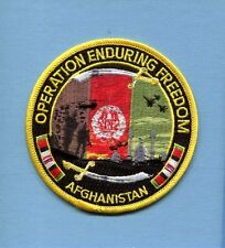 OPERATION ENDURING FREEDOM OEF AFGHANISTAN USAF NAVY US ARMY USMC Veteran Patch