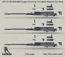 Live Resin 1/35 LRE-35146 M3D/Dragon M-50 .50 Caliber Machine Gun Body