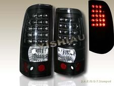 2003-2006 CHEVY SILVERADO 2004-2006 GMC SIERRA 1500/2500 BLACK TAIL LIGHTS LED