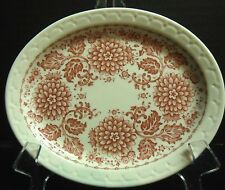 "Syracuse China Oval Plate Econo-Rim Mayflower Roxbury 7"" x 5¾"""