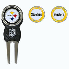Pittsburgh Steelers NFL Team Golf Divot Tool with 3 Magnetic Ball Markers