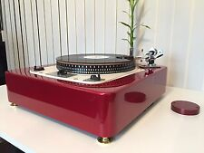 "GARRARD 301 9"" BURGUNDY RED Plinth Zarge"