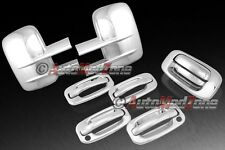 03-06 Chevy Silverado Chrome 4 Door Handle Covers+Tailgate +Towing Mirror Cover