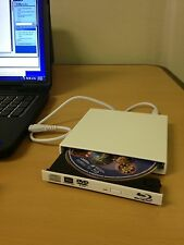 USB 4x Blu Ray Combo White Extenral Portable Laptop Optical Slim Drive - PC/Mac