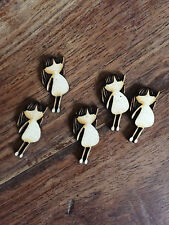 5 x Wooden Mini LITTLE GIRL EMBELLISHMENT Craft Card Scrapbook Art