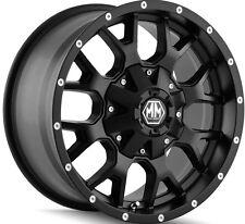 5-NEW Mayhem 8015 Warrior 17x9 5x114.3/5x127 -12mm Matte Black Wheels Rims