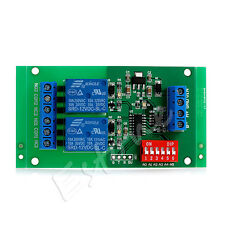 DC 12V 2 Channel RS485 Relay Board Modbus RTU AT Command Switch Module PLC Motor