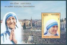 India 2016 Saint Teresa MINIATURE SHEET 1 MNH Stamp