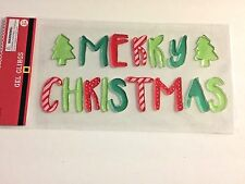 Holiday WInter Merry Christmas Trees  Window Gel Sticker Cling Decor