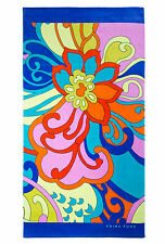 "TRINA TURK Cactus Flower Beach Towel in MULTI 40"" x 70"" 100% Cotton NWT!"