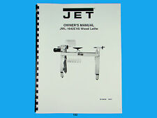 Jet   JWL-1642EVS  Wood Lathe Owners  Manual *192