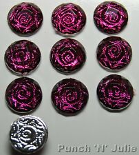 PINK SWIRL Round Girl Stud Earrings Jewel Gem Dress It Up Craft Embellishments