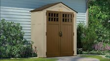 Suncast Sierra 6 x 3 Feet Outdoor Storage Shed 92 Cubic Feet, Sand | BMS6300