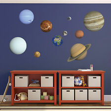 Planet Wall Stickers - Set of 10 Solar System Stickers - Child's bedroom sticker