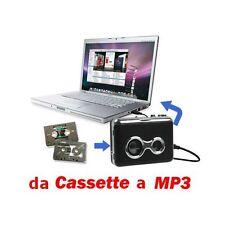 gf Trasformare Convertire Trasferire Musi Cassette in MP3 audio cassetta nastro