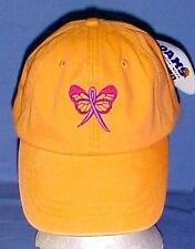 Pink Ribbon Butterfly Baseball Hat Breast Cancer Awareness Orange Adams Cap New