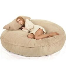 Large Beanbag Adult Suede Lounge Lazy Living Room Dorm Bedroom Chair