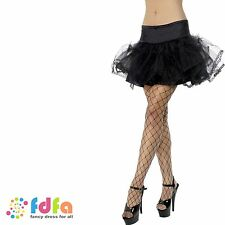 BLACK TULLE BURLESQUE PETTICOAT TUTU UNDERSKIRT - womens ladies fancy dress