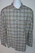 JOHN VARVATOS Man's Utility Checkered Casual Shirt NEW  Size X-Large Retail $275
