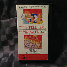 Growing Up Smarter Learning to Tell Time, Learning the Calendar VHS Video