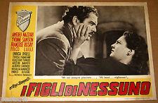 fotobusta film I FIGLI DI NESSUNO Folco Lulli Yvonne Sanson R.Matarazzo 1951