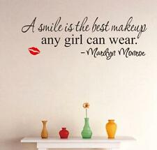 NEW  Marilyn Monroe Quote Red LIP Vinyl Wall Stickers Art Mural Home Decor Decal
