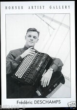 carte postale . honner artist Gallery. accordéon . Frédéric Deschamps .
